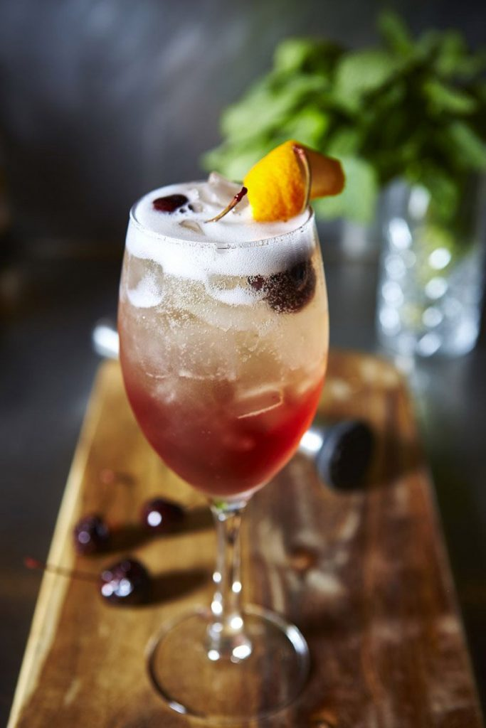 Cherry Aperol Spritz Cocktail